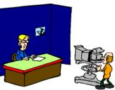 Disegno Presentatore televisivo pitturato su DENNIS