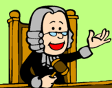 Disegno Giudice pitturato su GIANLUCA
