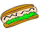 Disegno Hot dog pitturato su nicolollo