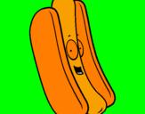 Disegno Hot dog pitturato su daniel