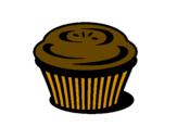 Disegno Muffin pitturato su nicolollo