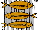 Disegno Pesce pitturato su nicolollo