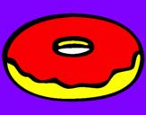 Disegno Frittella dolce pitturato su ale