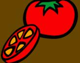 Disegno Pomodoro pitturato su Gioia