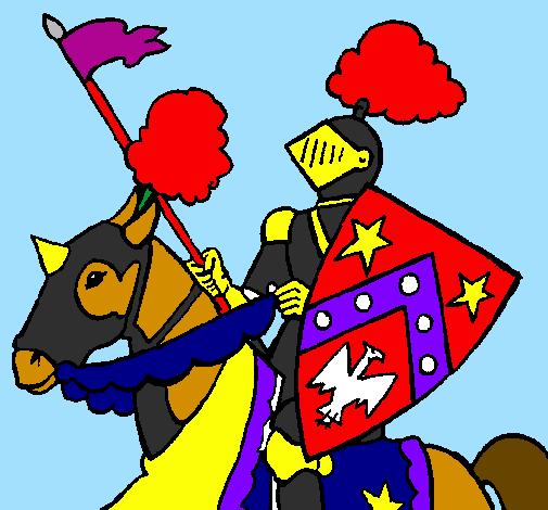 Disegno cavaliere a cavallo colorato da utente non - Mike le pagine da colorare cavaliere ...