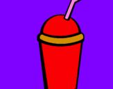 Disegno Bicchierone di frullato II pitturato su ale