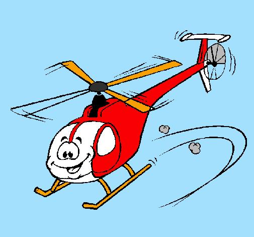 Elicottero Bambini : Disegno elicottero colorato da utente non registrato il