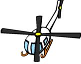 Disegno Elicottero  V pitturato su grillo