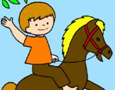 Disegno Cavallo pitturato su corinna   CERASUOLI