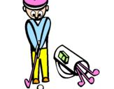 Disegno Golf II pitturato su giovanna