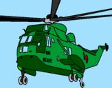 Disegno Elicottero di salvataggio  pitturato su nick