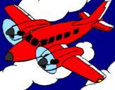 Disegno Aereo da turismo  pitturato su CHIARA