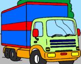 Disegno Camion  pitturato su DARIO