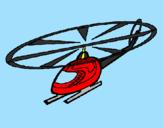 Disegno Elicottero  pitturato su nick