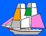 Disegno Veliero pitturato su ketj