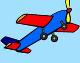 Disegno Aeroplano giocattolo pitturato su edoardo