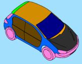 Disegno Auto vista dall'alto  pitturato su luigi