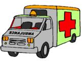 Disegno Ambulanza  pitturato su ed