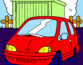 Disegno Auto in campagna  pitturato su michela  gulino
