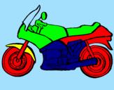 Disegno Motocicletta  pitturato su  BDXGBHàòT