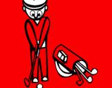 Disegno Golf II pitturato su renato nughedu