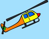 Disegno Elicottero giocattolo pitturato su tommaso