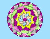 Disegno Mandala 1 pitturato su byutiful