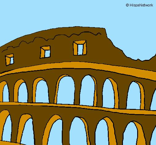 Disegno colosseo colorato da utente non registrato il 04 for Colosseo da colorare
