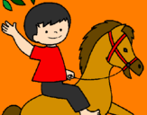 Disegno Cavallo pitturato su mian