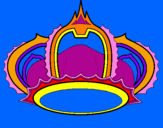 Disegno Corona pitturato su DENISE