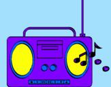 Disegno Radio cassette 2 pitturato su tommy08