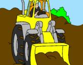 Disegno Escavatore  pitturato su nick