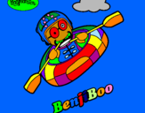 Disegno BenjiBoo pitturato su Nausicaa