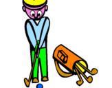 Disegno Golf II pitturato su simone