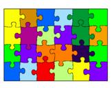 Disegno Puzzle pitturato su gioele