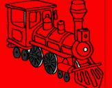 Disegno Treno  pitturato su Martina