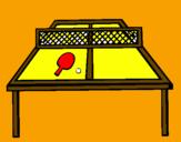 Disegno Ping pong pitturato su erica