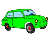 Disegno Auto classica  pitturato su 643fiat