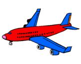 Disegno Aereo passeggeri  pitturato su davide