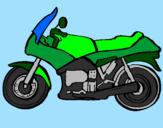 Disegno Motocicletta  pitturato su nick