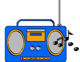 Disegno Radio cassette 2 pitturato su Giulia