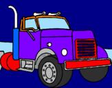 Disegno Camion  pitturato su davide