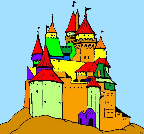 Disegno castello medievale colorato da utente non for Disegni casa castello