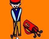 Disegno Golf II pitturato su federica