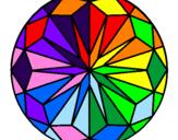 Disegno Mandala 42 pitturato su alice lucarelli 17/10/01