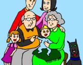 Disegno Famiglia pitturato su ludovica  iannelli