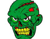 Disegno Zombie pitturato su VINCENZO