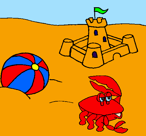 Disegno spiaggia 2 colorato da utente non registrato il 06 for Disegni da camera da spiaggia