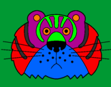 Disegno Tigre III pitturato su laura  maietta