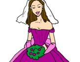 Disegno Fidanzata pitturato su Vittoria